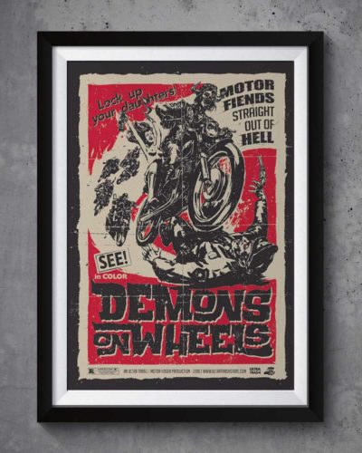 Demons on wheels | Poster