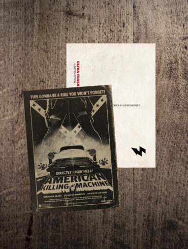 American Killing Machine Postkarte