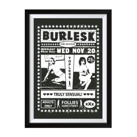 Burlesk Siebdruck Poster