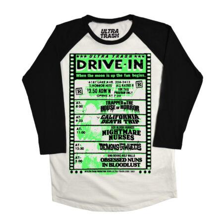 Ultra Trash Drive in T-Shirt 3/4 Sleeve Baseball Shirt