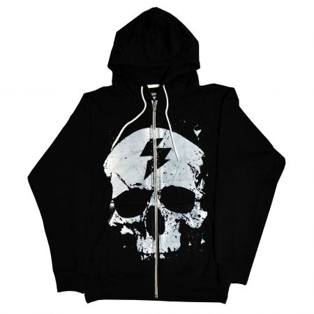 Exploited Skull Hooded Zipper