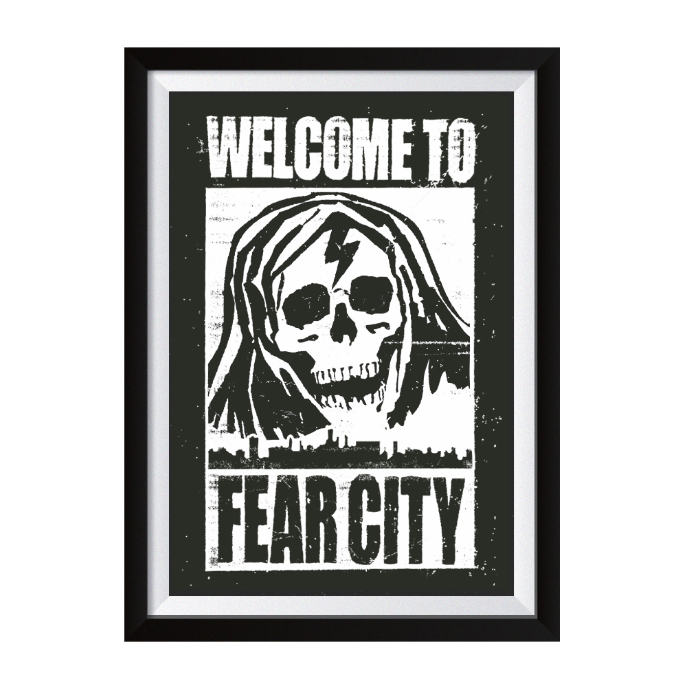 Welcome to Fear City Siebdruck Poster