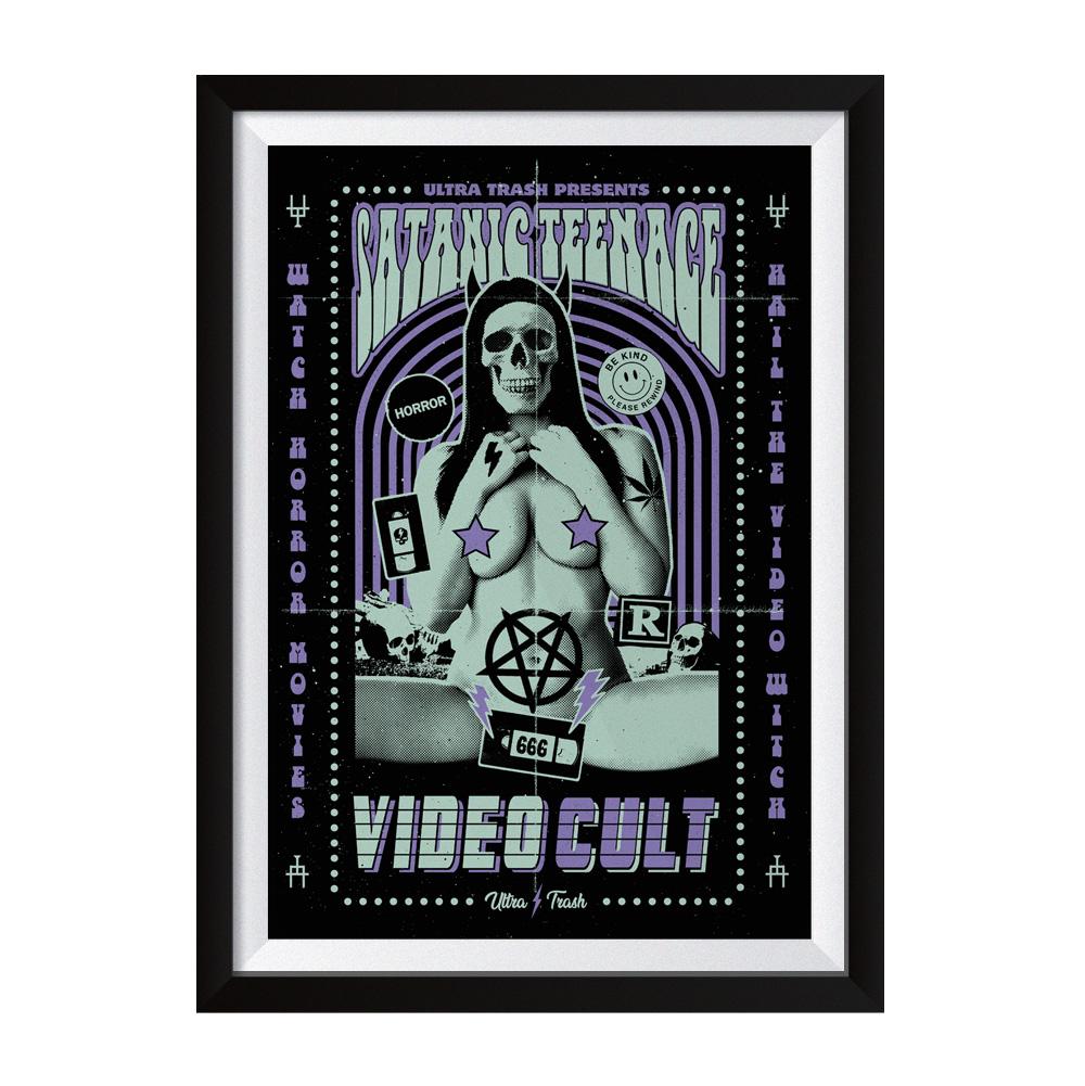 STVC purple Siebdruck Poster