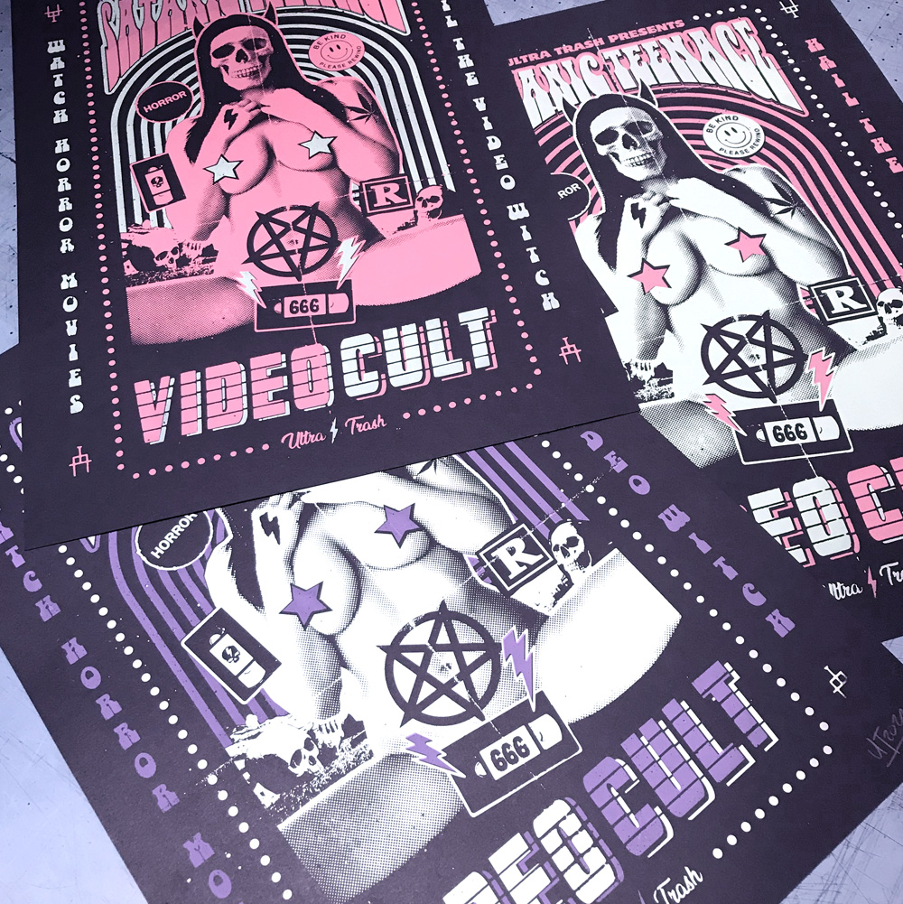 STVC pink v2 Siebdruck Poster
