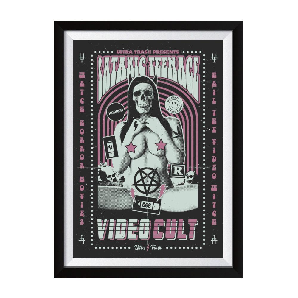 STVC pink Siebdruck Poster