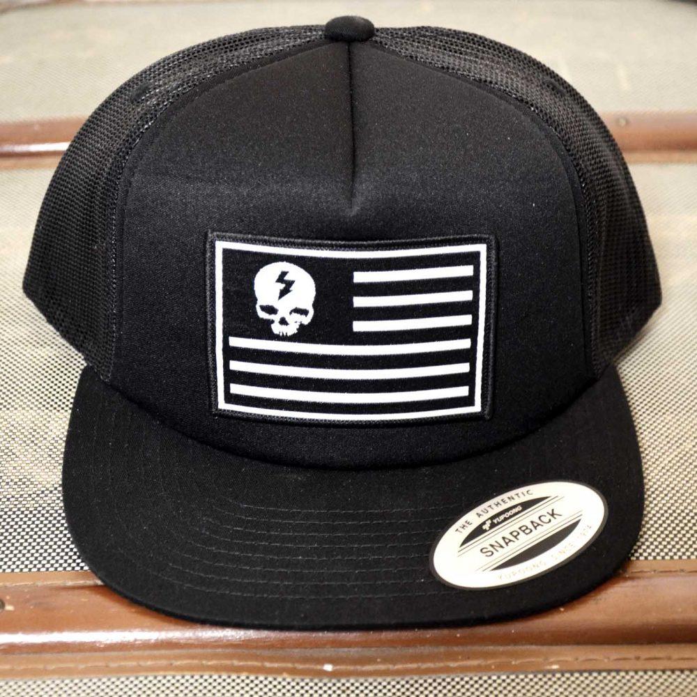 ultra-trash-skull-and-stripes-trucker-snapback-cap
