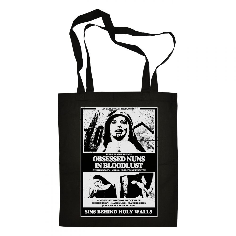 Ultra Trash | Obsessed Nuns in Bloodlust – Totebag | www.ultratrash.com