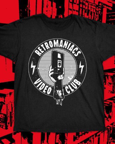 Retromaniacs Video Club T-Shirt black + Klubkarte