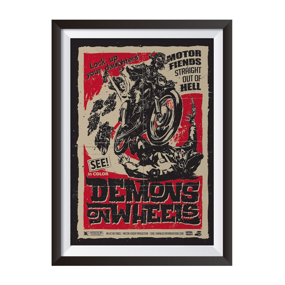 Demons on wheels – Poster