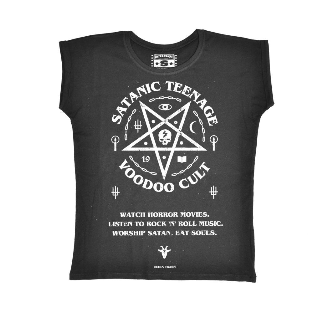 Satanic Teenage Voodoo Cult Ladies Tee