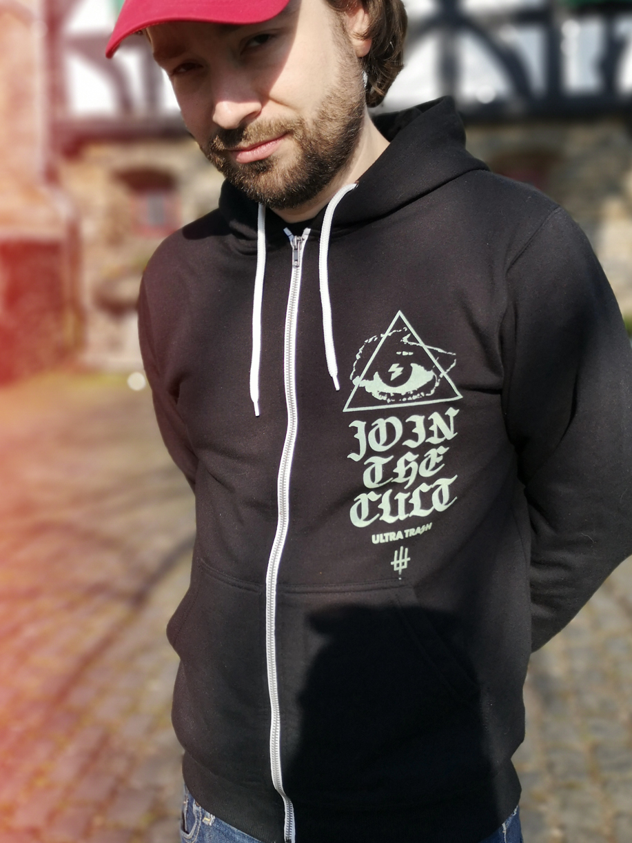 The Cult hooded zipper