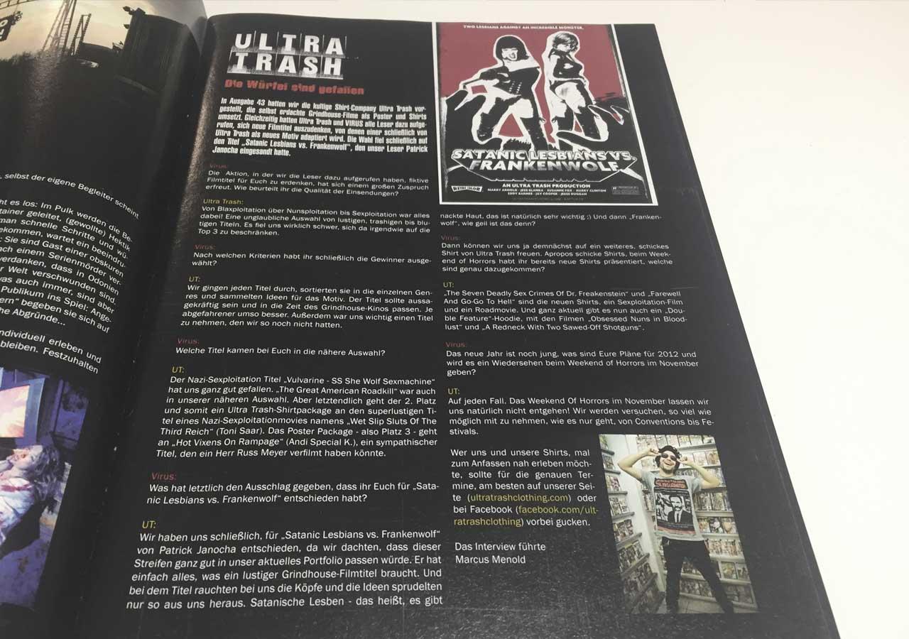 Ultra Trash im Virus Magazin 46