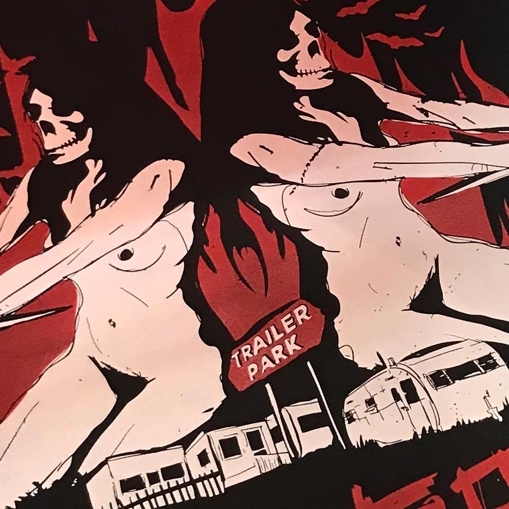 White Trash Voodoo Club siebdruck poster Rot